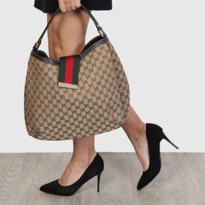 *Flawed* Gucci Lady Web Hobo Bag Shoulder Purse